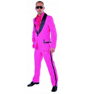 Foute Roze Smoking Man Kostuum