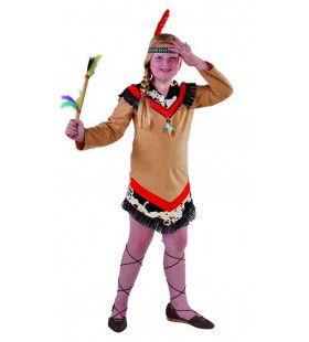 Dappere Strijder Mohave Indiaan Meisje Kostuum