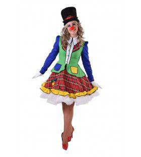 Feestelijke Circus Clown Pipa Vrouw Kostuum