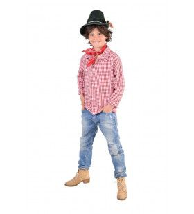 Rood Wit Geblokt Hemd Oktoberfest Jongen
