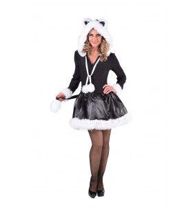 Verleidelijke Zwarte Kat Vrouw Kostuum