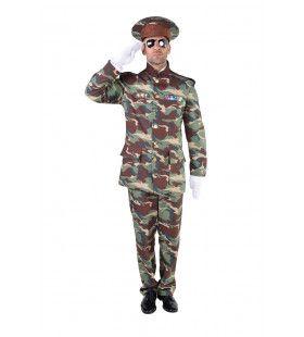 Officier Erewacht Camouflage Man Kostuum