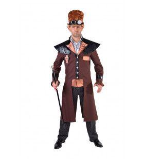 Steampunk Brons Met Kapmantel Kostuum