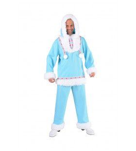 Immuun Voor De Kou Eskimo Noordpool Man Kostuum
