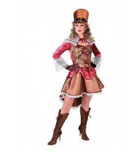 Mooie Stoffen Chique Freule Steampunk Vrouw Kostuum