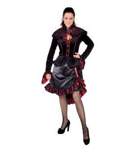 Steampunk Gravin Draculina Vrouw Kostuum