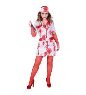 Verpleegster Vol Bloedspetters Vrouw Kostuum