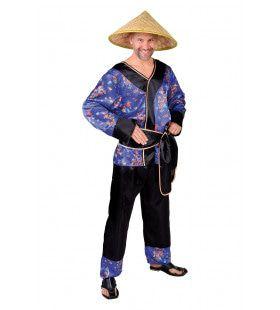 Yangtze Platteland Chinees Man Kostuum