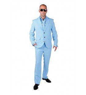 Ice Cool Men In Blue Man Kostuum