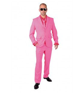 Cool Men In Pink Man Kostuum