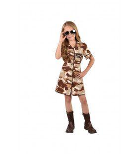 Drie Sterren Generaal Desert Storm Norma Schwarzkopf Meisje Kostuum