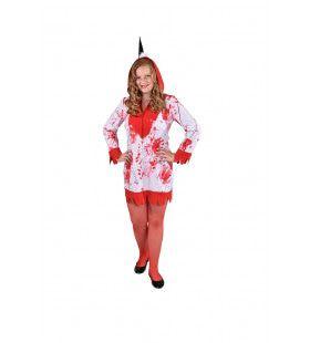 Bebloede Halloween Eenhoorn Meisje Kostuum