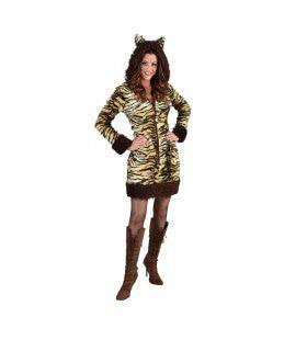 Wilde Bengaalse Tijger Vrouw Kostuum