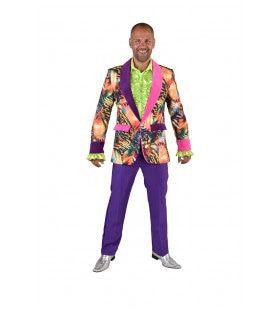 Wilde Psychedelische Tijger Colbert Man Kostuum