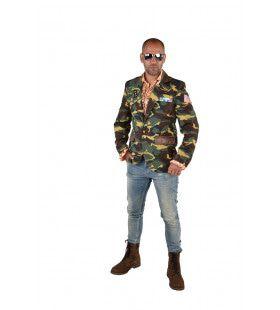 Camouflage Colbert Gedecoreerde Oorlogsheld Man