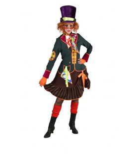 Te Gek Druk Gekke Hoedenmaker Mad Hatter Vrouw Kostuum