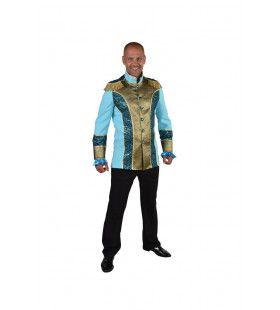 Unieke Uniform Jas Turquoise Man