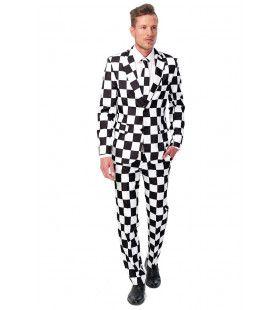 Schaakbord Checked Black White Suitmeister Kostuum Man