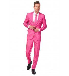 Dandy Dann Solid Pink Suitmeister Kostuum Man