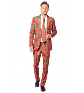 Feestelijke Christmas Trees Suitmeister Kostuum Man