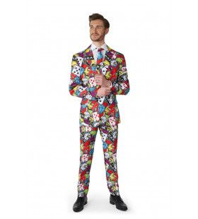 Casino Icons Colour Jack Man Kostuum