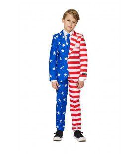 Boys USA Flag Stars And Stripes Jongen Kostuum