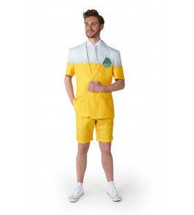 Zomer Geel Premium Biertje Man Kostuum
