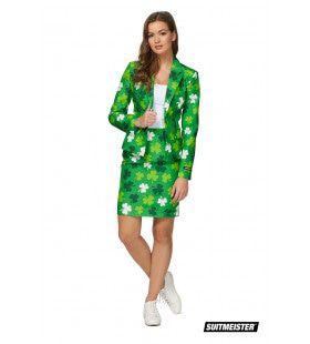 Saint Patricks Day Klavertje Vier Clovers Vrouw Kostuum