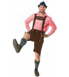 Bierfeest Lederhose Met Shirt Oktoberfest Bier Tirol Man Kostuum