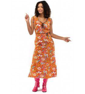 Lang Jaren 70 Hippie Soul Disco 60s Pretty Paisley Vrouw Kostuum