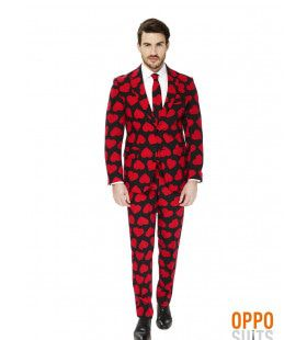Hartenbreker King Of Hearts Opposuit Man Kostuum