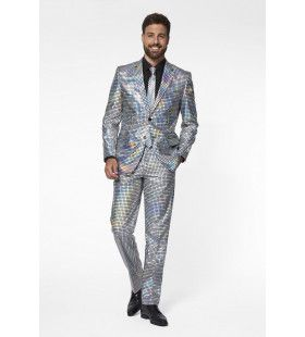 Duizelingwekkende Discoballer Man Kostuum