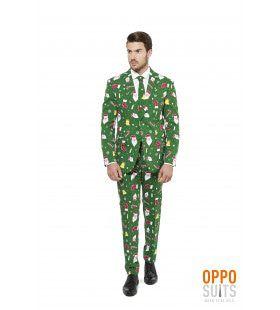 Doldwaze Santaboss Kerst Opposuit Man Kostuum