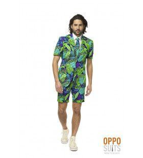 Juicy Jungle Tropische Varens Zomer Man Kostuum