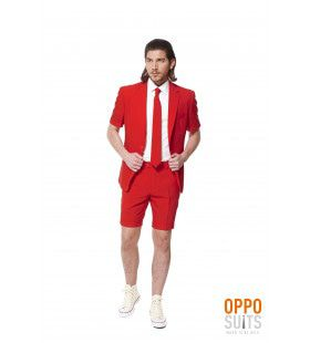 Summer Festival Intense Red Devil Opposuit Man Kostuum