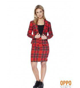 Schotse Lumberjackie Opposuit Vrouw Kostuum