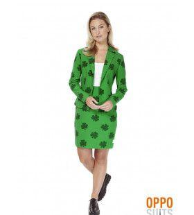 Iers St. Patricka??s Girl Opposuit Vrouw Kostuum