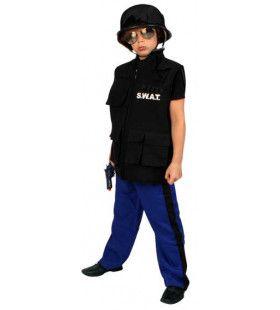 Special Weapons And Tactics Kostuum Swat Jongen