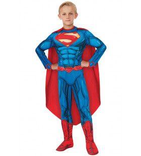 Superman Met Getekende Superspieren Jongen Kostuum