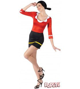 Olijfje Van Popeye Vrouw Kostuum