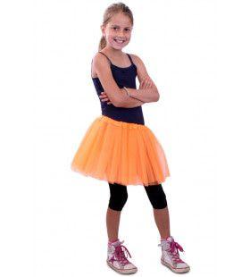 Tule Rokje Kinderen Oranje Meisje