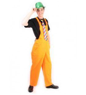 Tuinbroek Fluo Oranje Kostuum