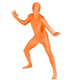 Skinny Skin Oranje Kostuum