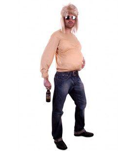 Bierbuik Shirt Met Mouwen Stof Man Kostuum