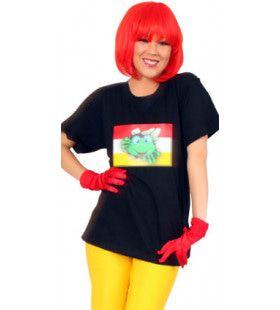 T-Shirt Zwart Met Verlichting Oeteldonk (Reageert Op Geluid) Man Kostuum
