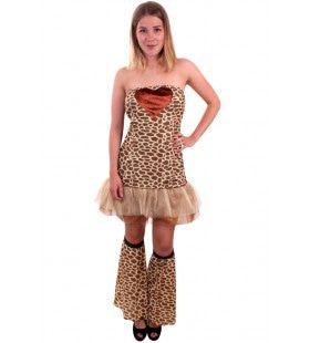 Bonte Giraffe Vrouw Kostuum
