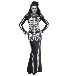 Lange Skelet Jurk Vrouw