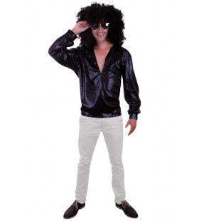 Donkere Bling Bling Disco Blouse Man