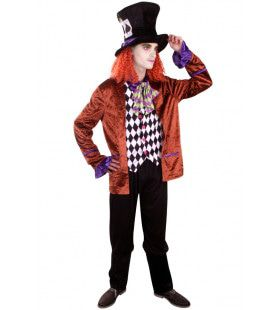 Basic Mad Hatter Man Kostuum