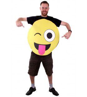 Emoticon Smiley Kostuum Uitgestoken Tong